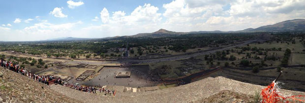 Pyramid of the sun Teotihuacan Mexico City