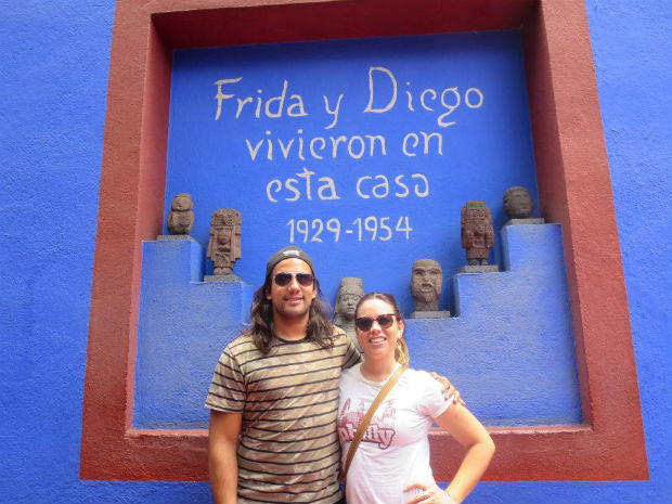 in front of frida's house
