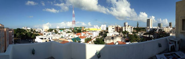 view from our terrace in downtown cancun