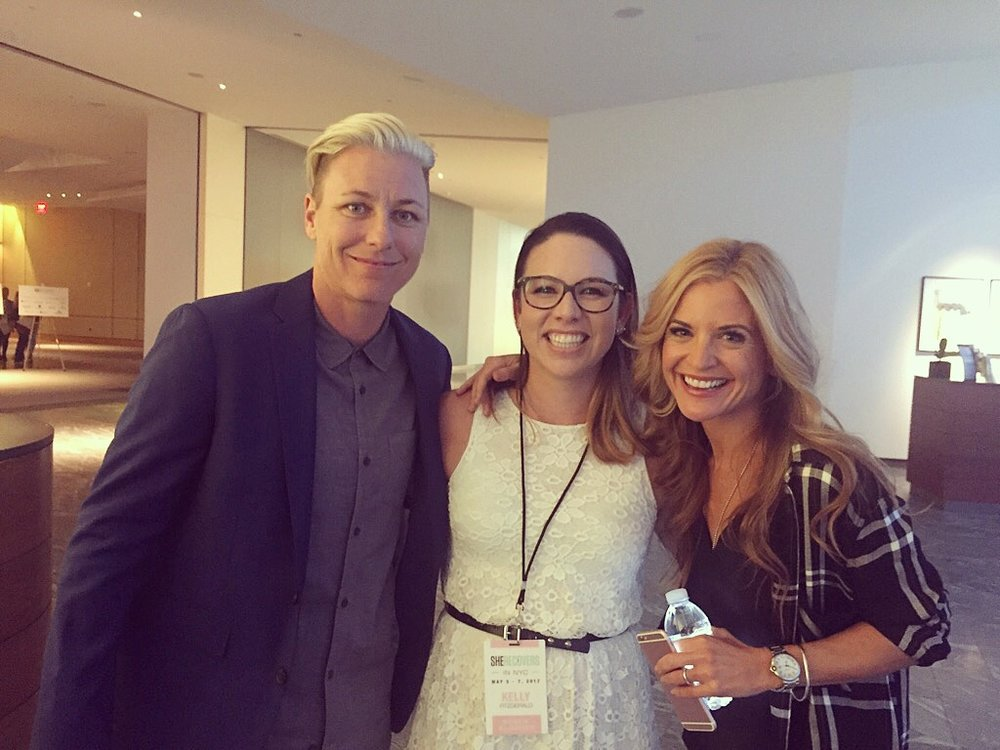 I can now die a happy woman because I met Abby Wambach and Glennon Doyle Melton