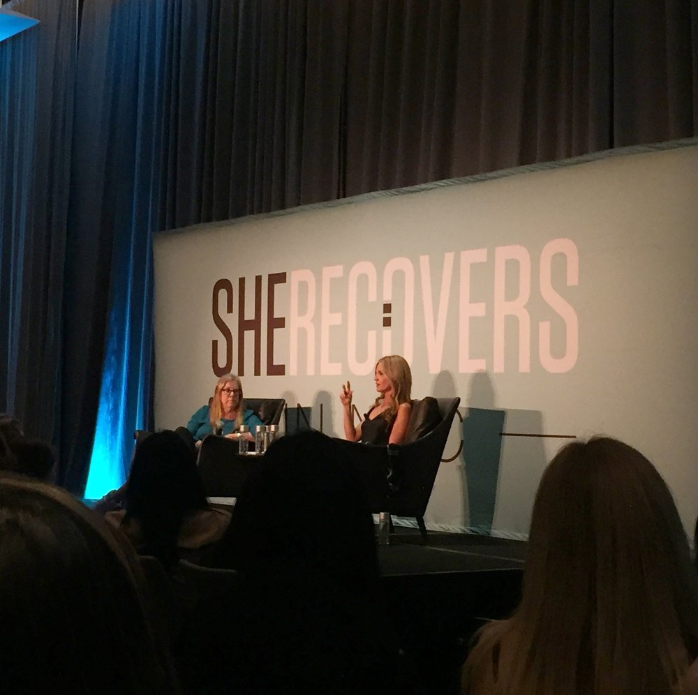 Glennon's fireside chat with Dawn Nickel, co-founder of She Recovers