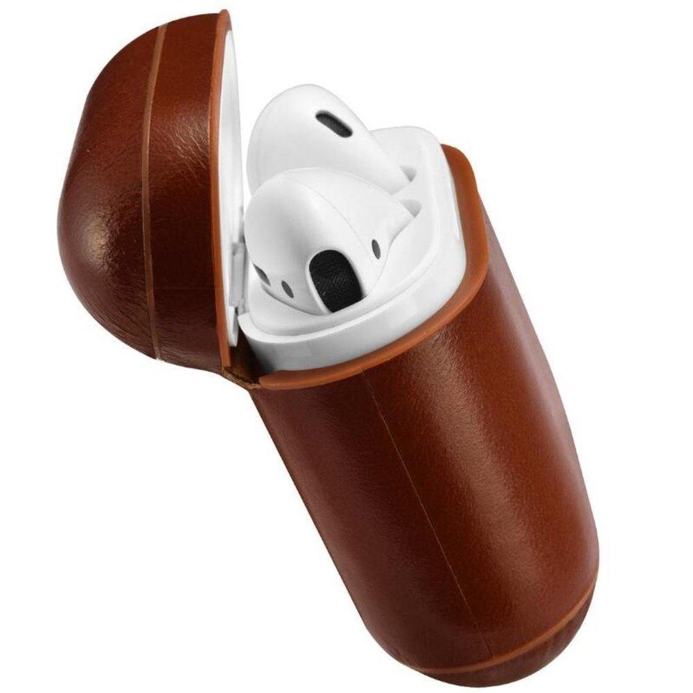 leather-airpod-case-dark-brown-classic-air-cinyl-design