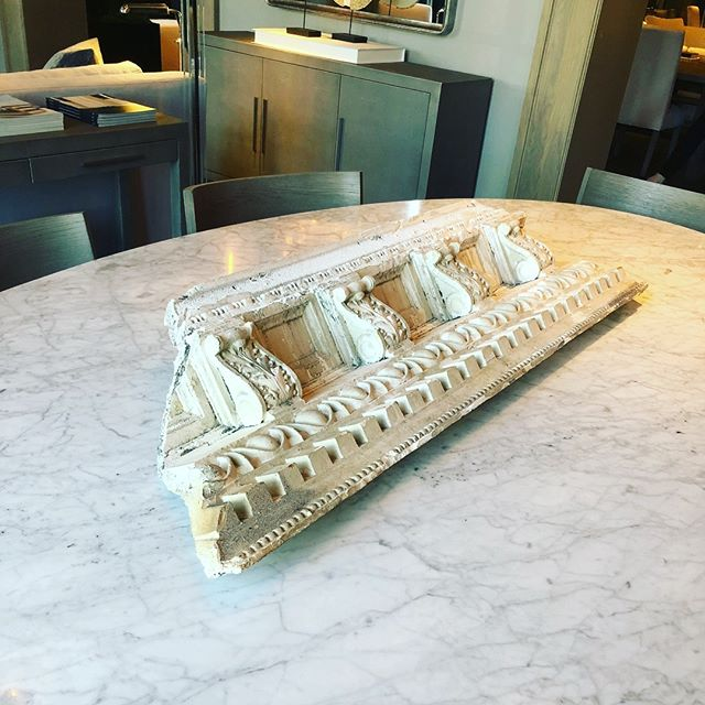 So @restoration.hardware, are you telling me if I rip off a piece of crown molding in my home and throw it on my kitchen table, I've got a centerpiece? I'm hosting Thanksgiving and need advice. #demoday #areweseriousaboutthis