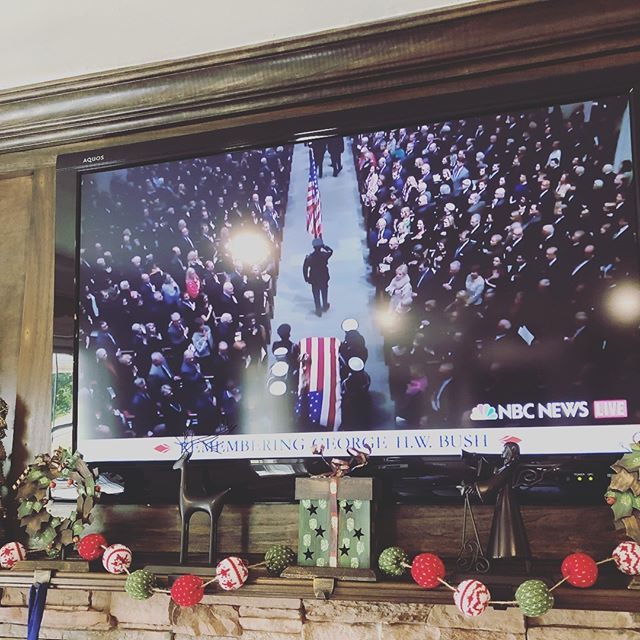 I can't quit watching the coverage of George H.W. Bush's funeral. I'm reminded that some of our presidents were really good at being humans before they were good at being politicians. Let's get back to that.