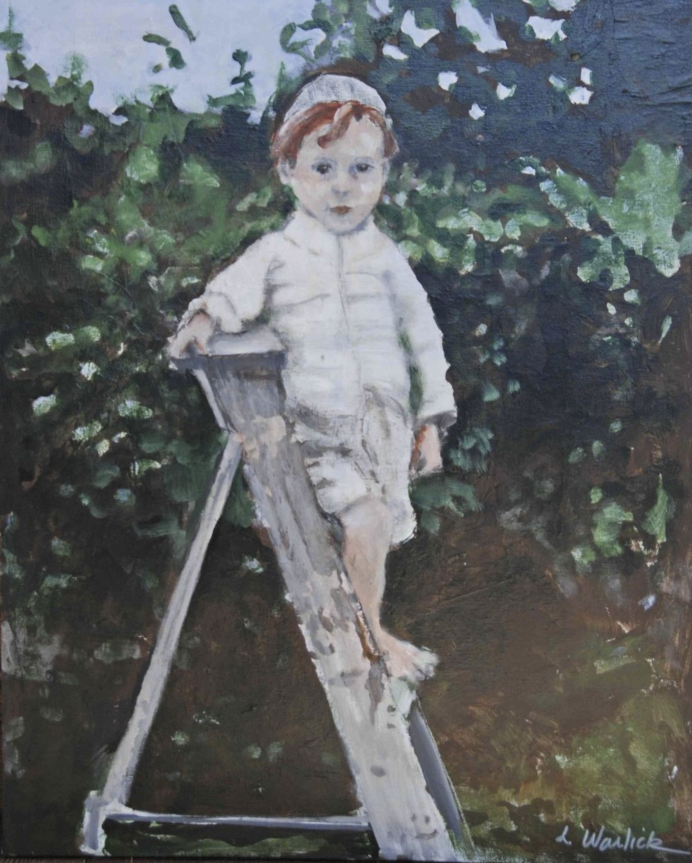 """Boy on a Ladder"""