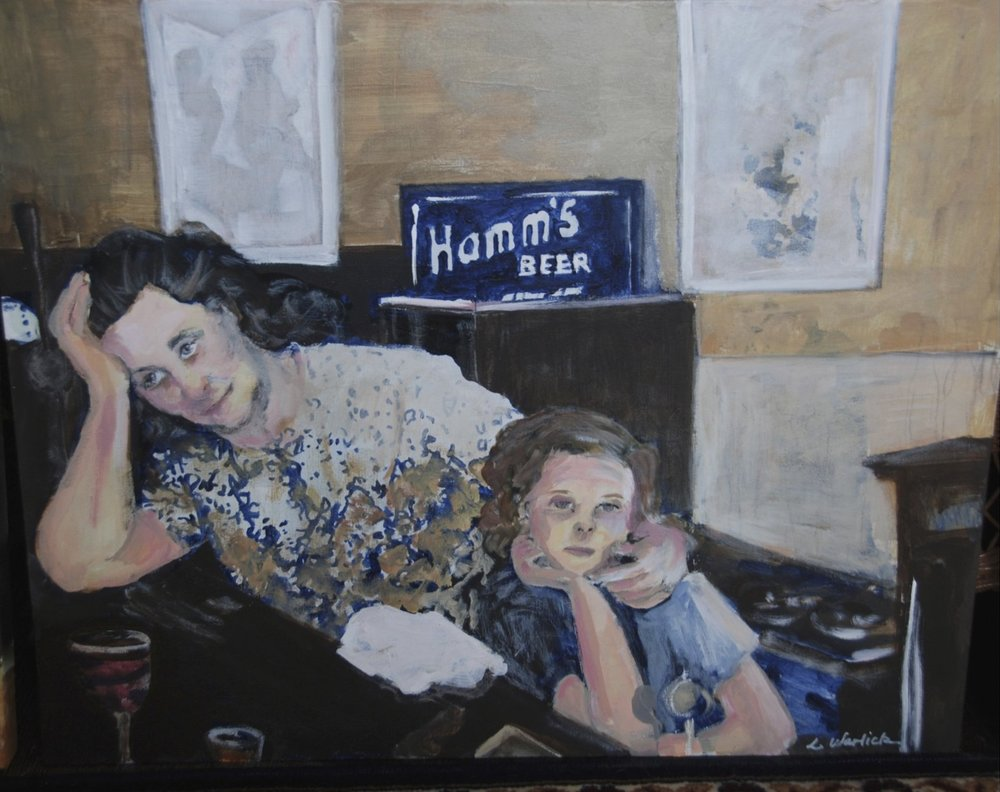 """The Barmaid and <br> Her Daughter"""