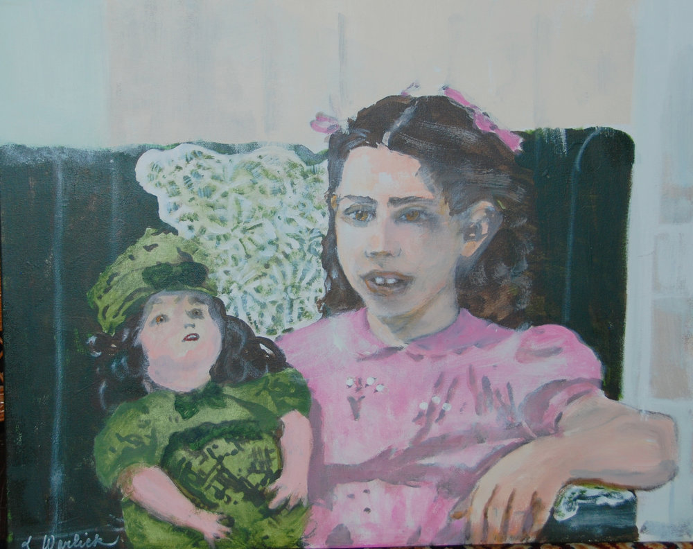 """Young Girl and Her Doll"""