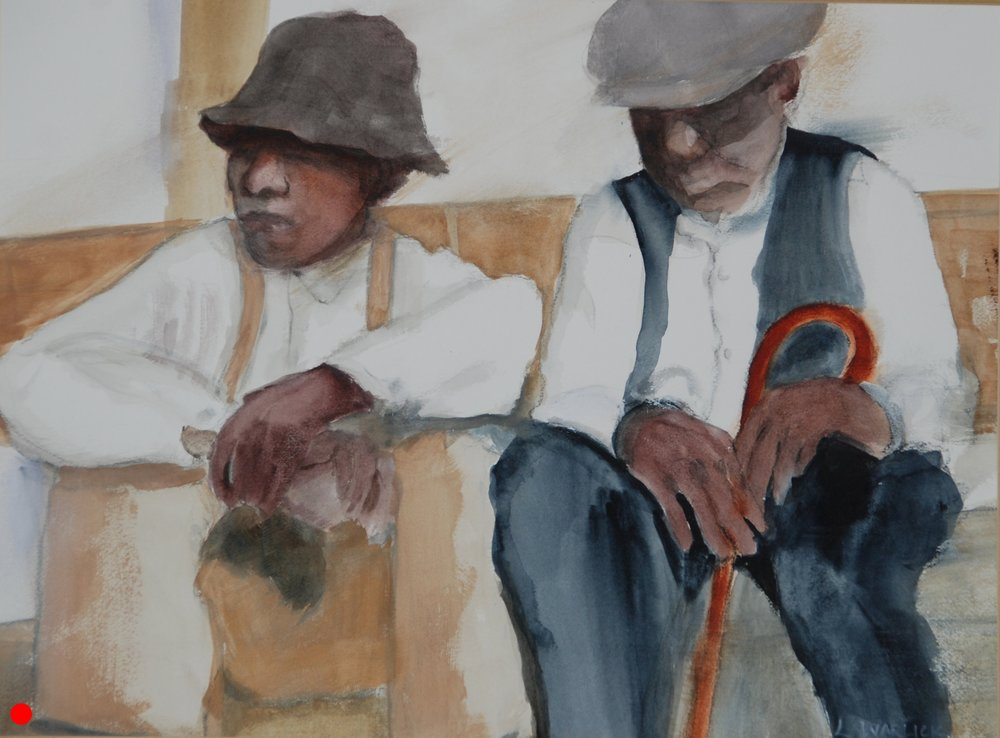 """Old Men Waiting"""