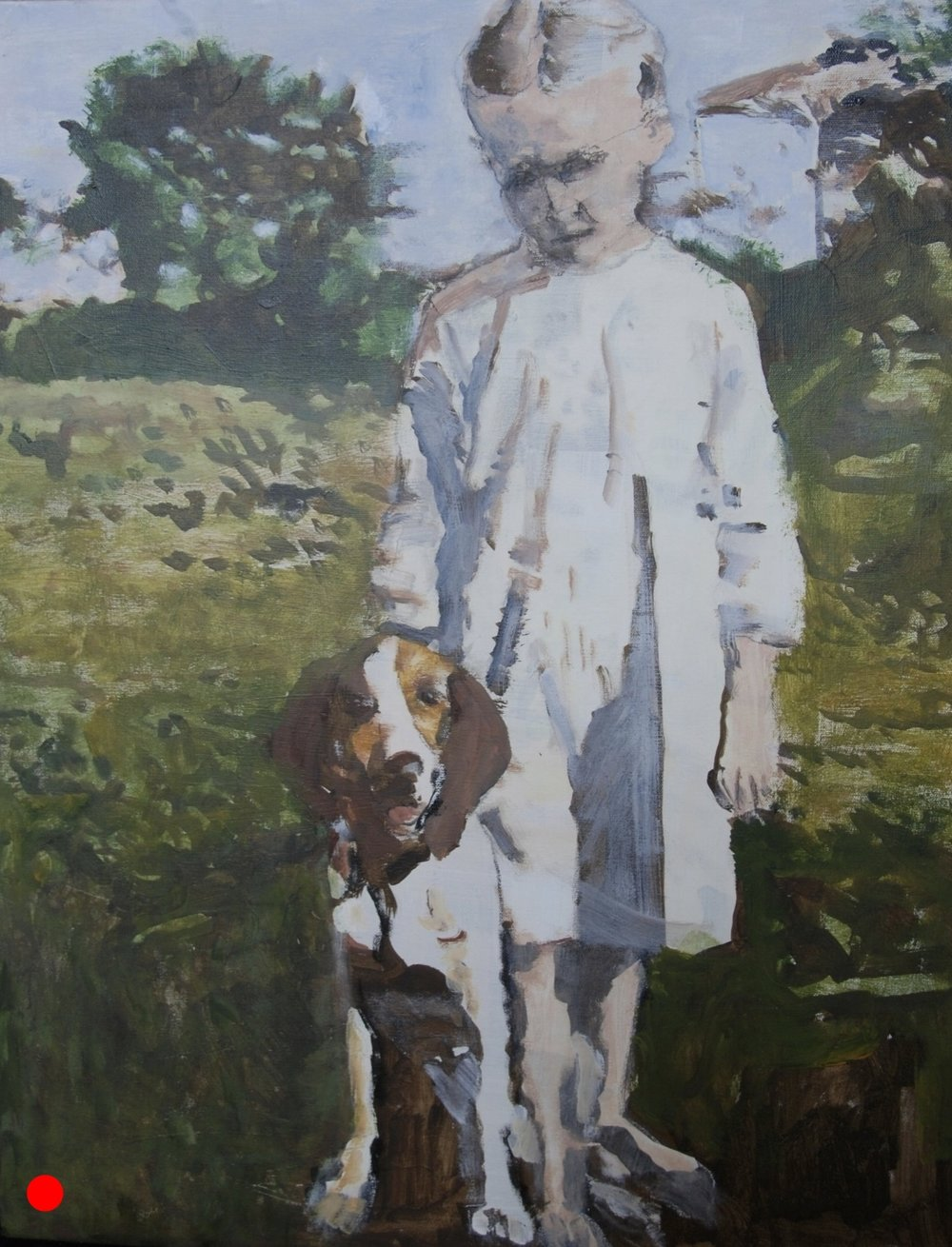 """Young Girl and Her Dog"""