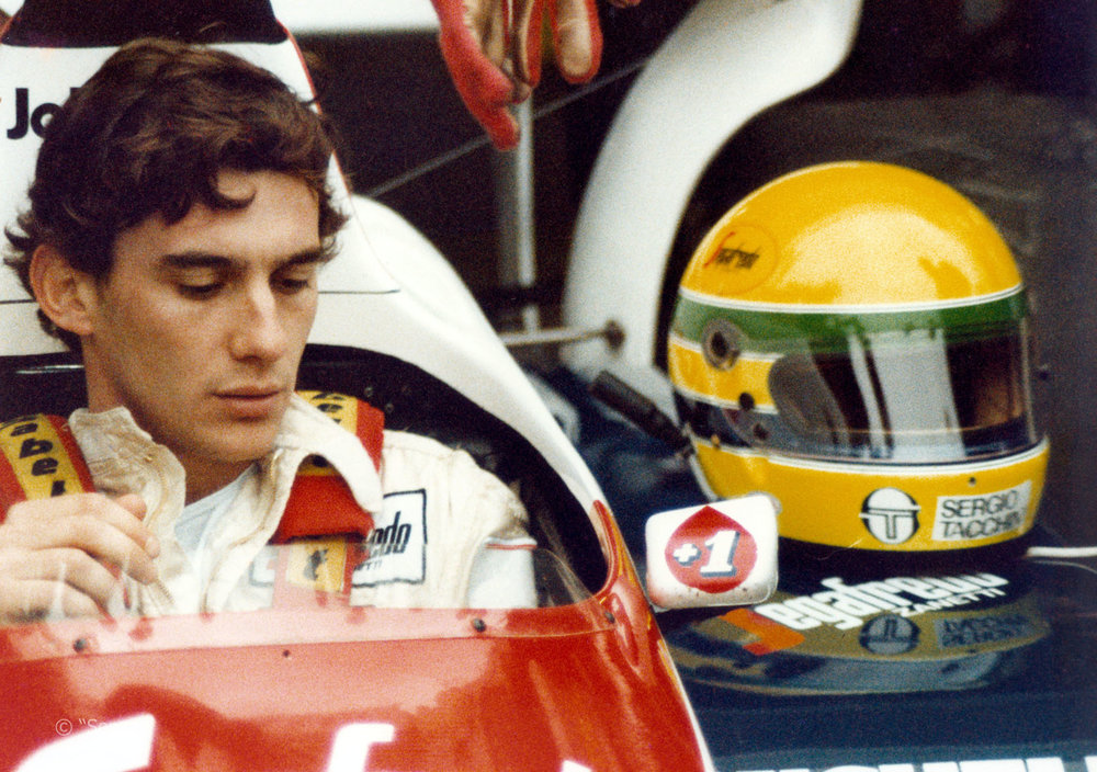 Ayrton Senna in his Toleman racer.