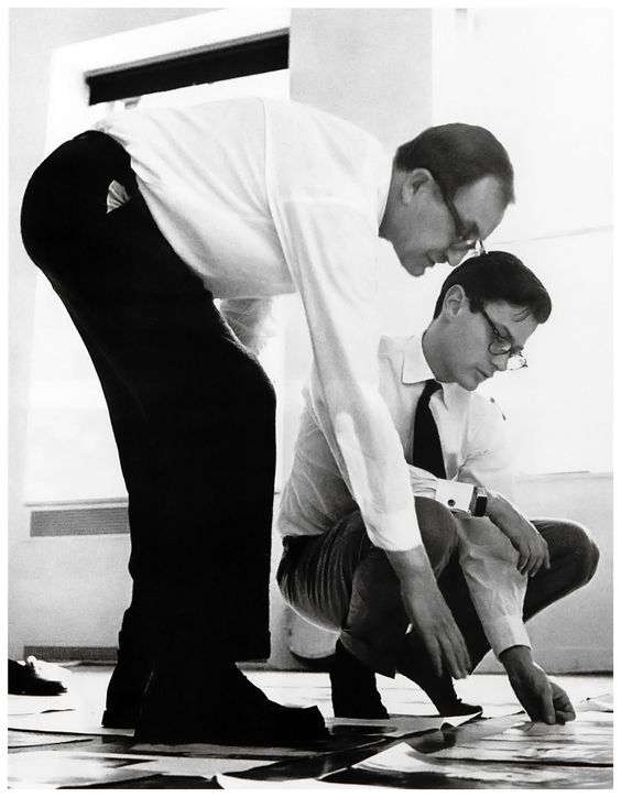 Alexey Brodovitch (left) and photographer, Richard Avedon (right).