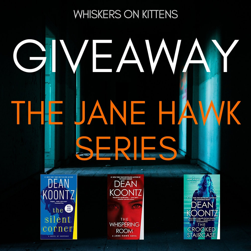 A longtime fan of Dean Koontz, it was my greatest pleasure to give away two sets of his latest series- The Jane Hawk series- in October. And, being the outstanding author he is, Mr. Koontz signed and inscribed all the books, too.