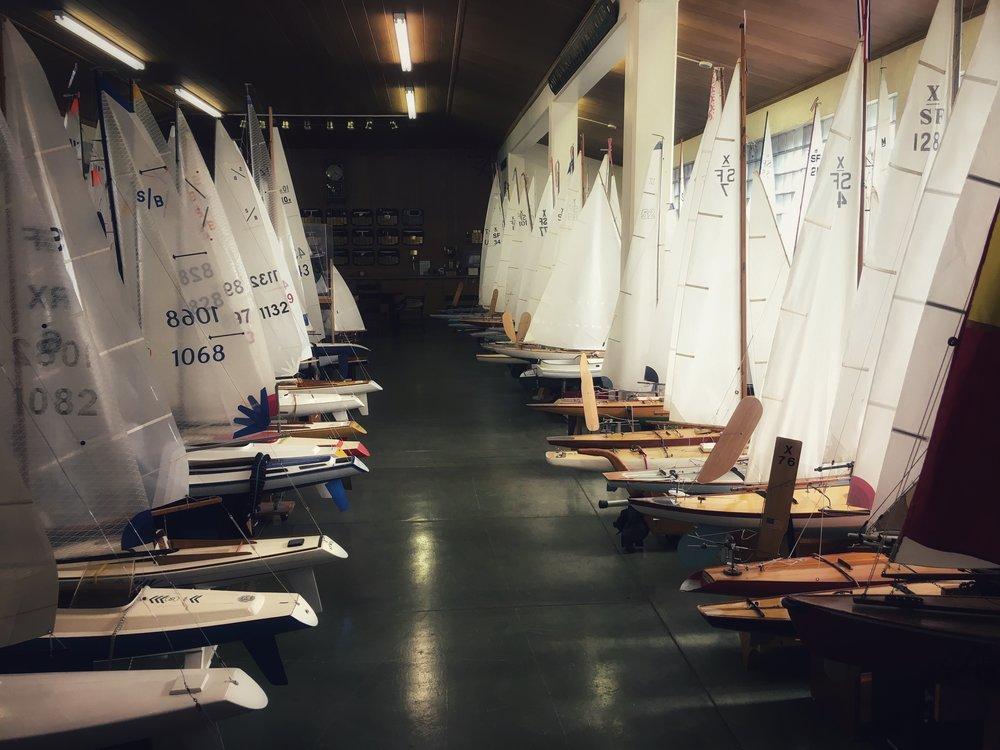 Inside the San Francisco Model Yacht Club