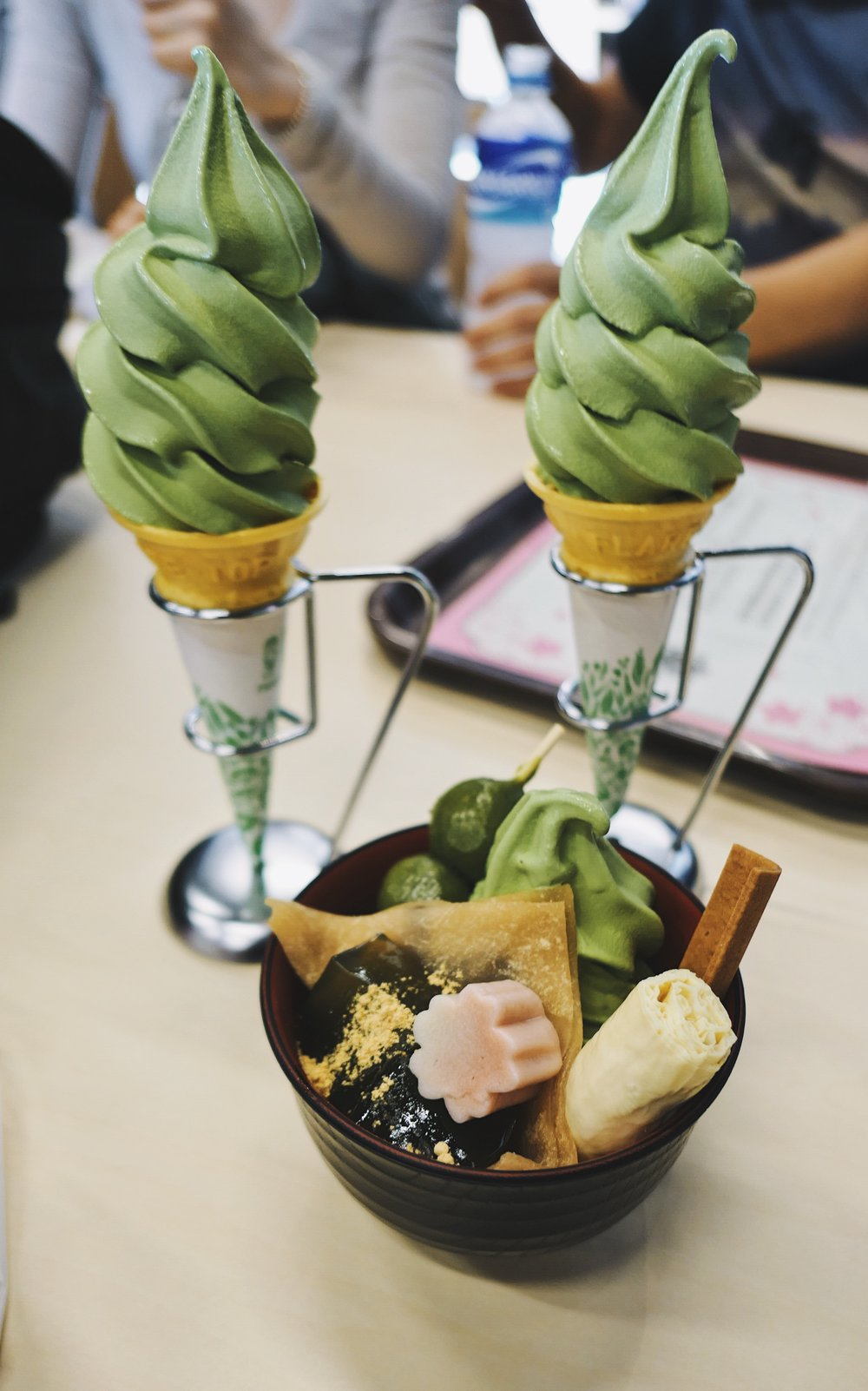 we just had to try . . I prefer just the matcha softserve.