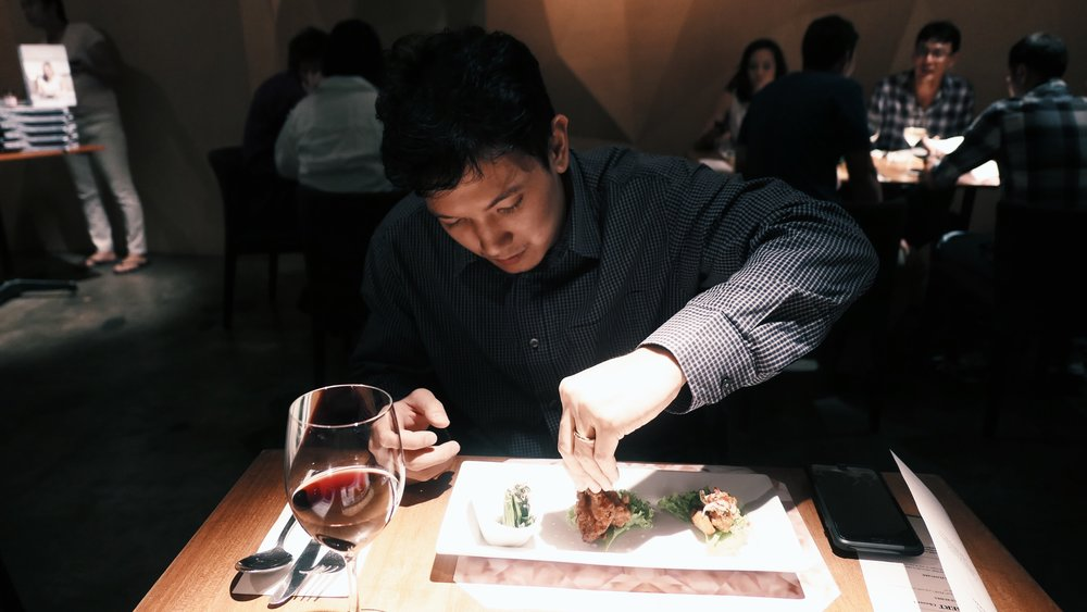 Loverboy enjoying his meal.