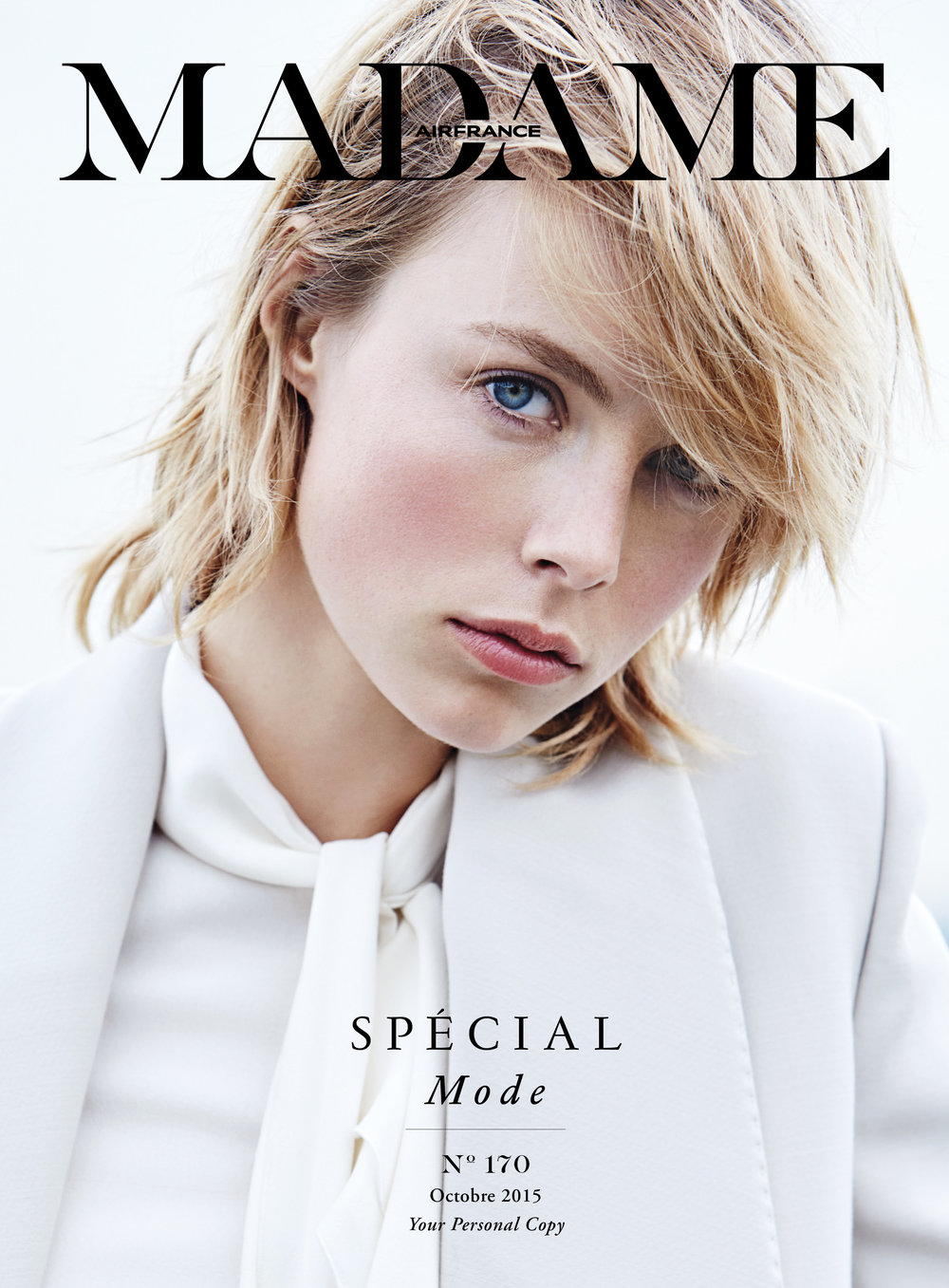 Air France Madame - N°170 Octobre 2015  Photographer - Liz Collins  Model - Edie Campbell