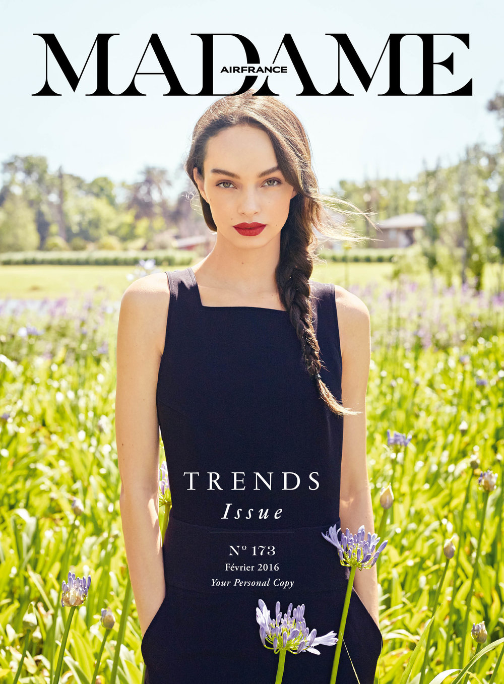 Air France Madame - N°173 Février 2016  Photographer - David Mushegain  Model - Luma Grothe
