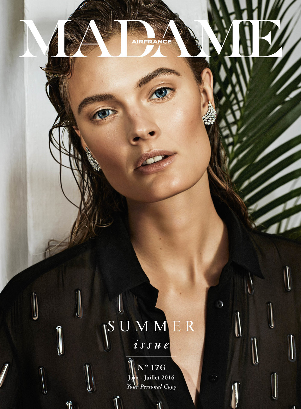 Air France Madame - N°176 Juin-Juillet 2016  Photographer - Alique  Model - Constance Jablonski