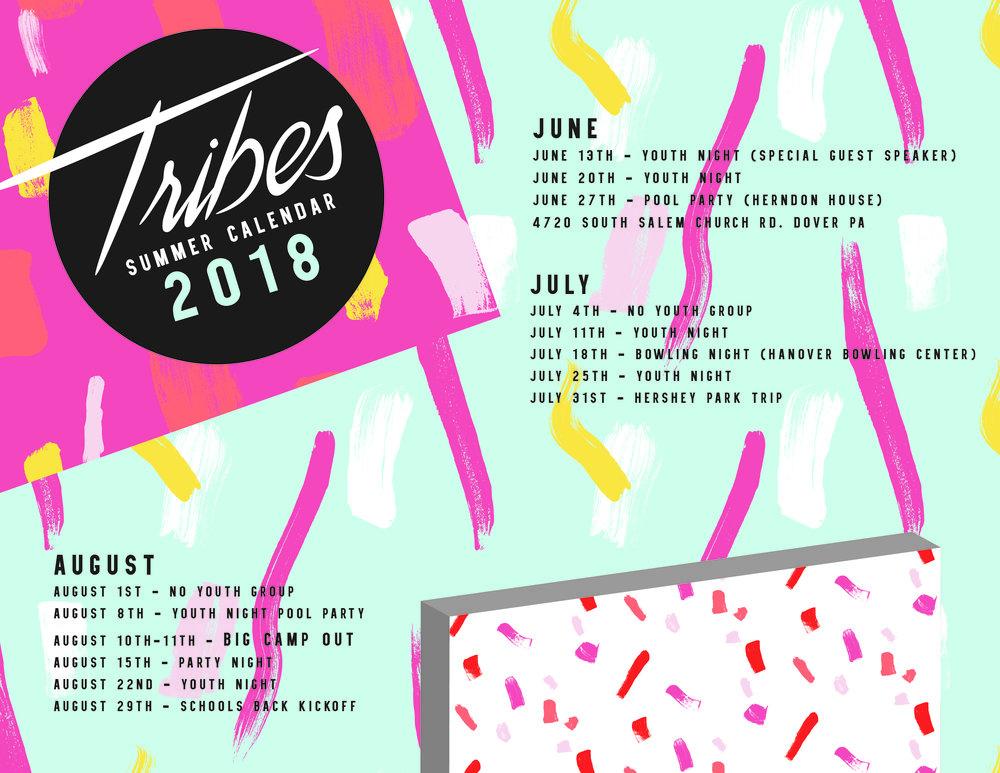 Tribes Summer Calendar