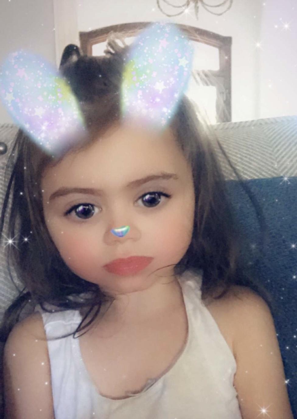 Ella loves Snapchat filters.