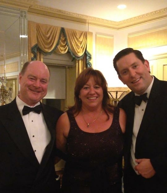 Donald Carey (left), Lorraine Salmon & Ed Sweeney (right) at the Alfred E. Smith Memorial Foundation Dinner in NYC in 2013.