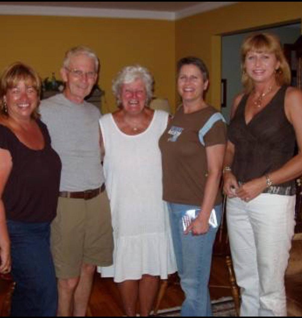 Lorraine Salmon with Marty & Esther Higgins, Colleen Miller & Patty Kowalski Jackson