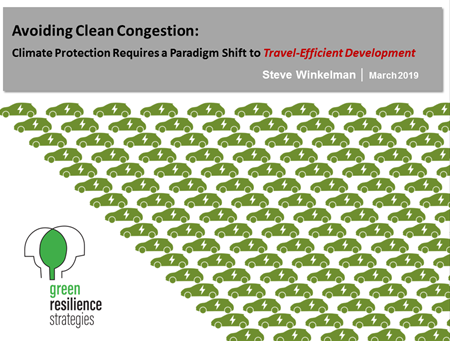 """""""Clean congestion"""" is what we'll get … - … if we rely only on vehicle technology to meet climate goals. We need electric vehicles AND walkable, transit-oriented communities. And those communities will be more accessible, equitable and resilient. Read the blog and watch the video."""