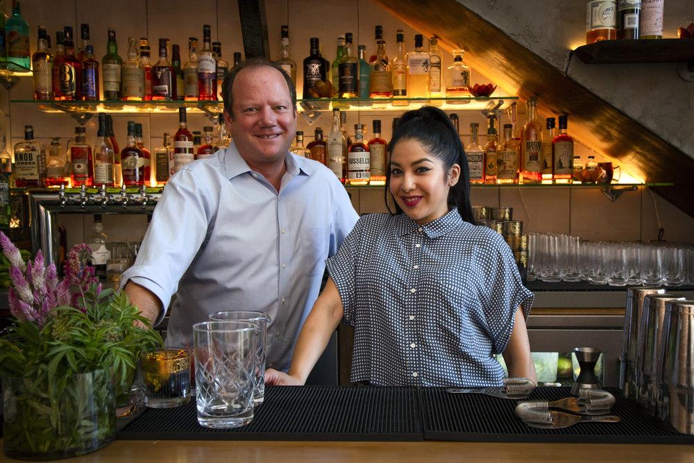 Cocktail Guru - Scott Beattie & Bar Manager - Andrea Mota