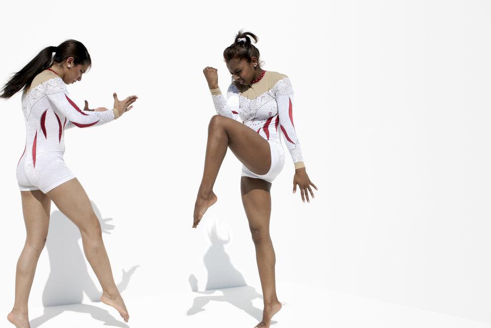 Shaden Wahdan and Aljazy Al Habshi, Qatar Gymnastics, QMA Hey'Ya Arab Women in Sport