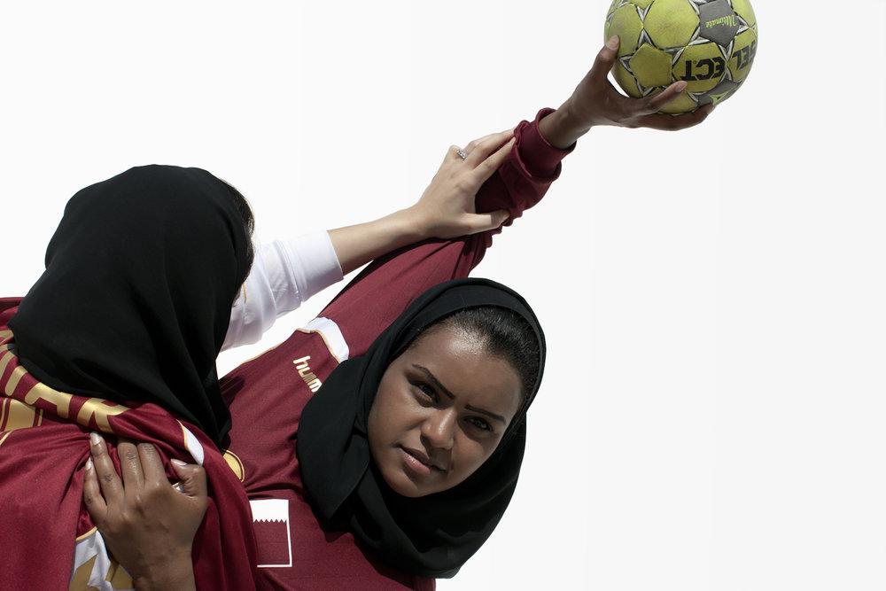 Miriam Al Suwaidi, Fatma Al Suwaidi, Handball Qatar, QMA HeyYa Arab Women in Sport
