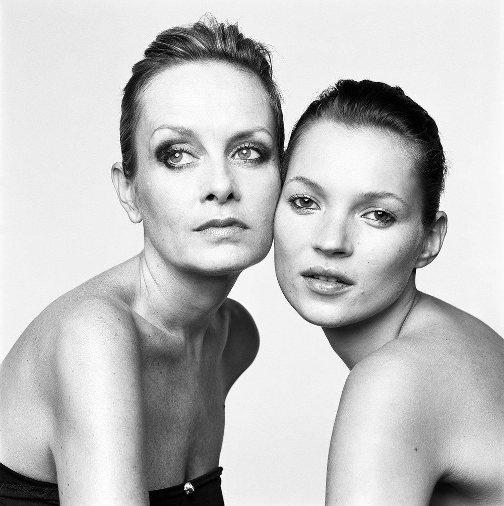 Twiggy and Kate Moss, London, UK, 1999