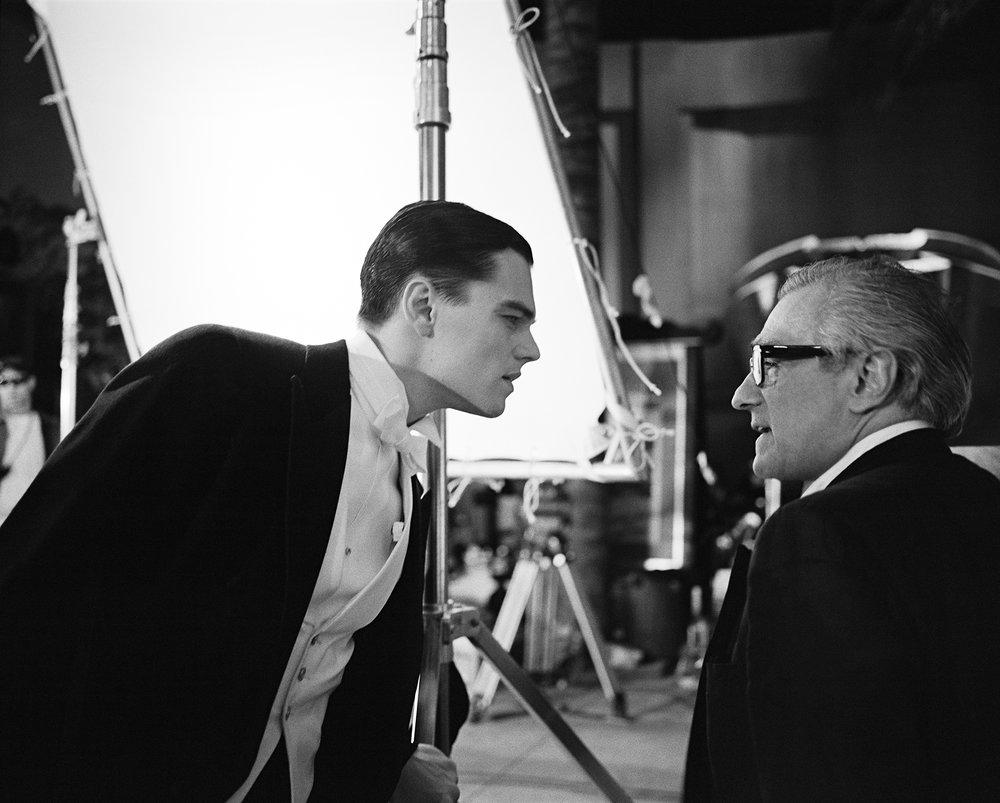 """Leonardo DiCaprio and Martin Scorsese, """"The Aviator"""", Montreal, Quebec, 2003"""