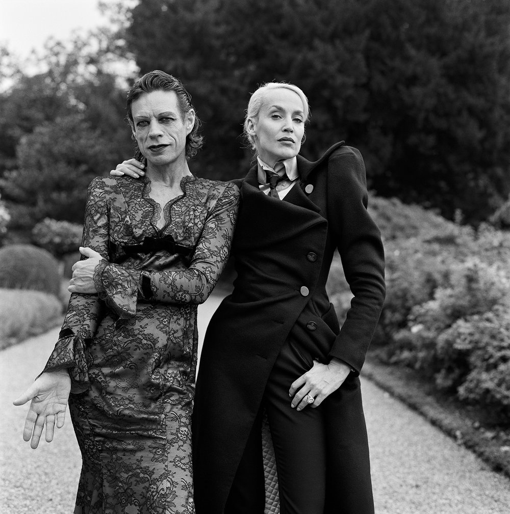 Mick Jagger and Jerry Hall, Château de La Fourchette, France, 1996