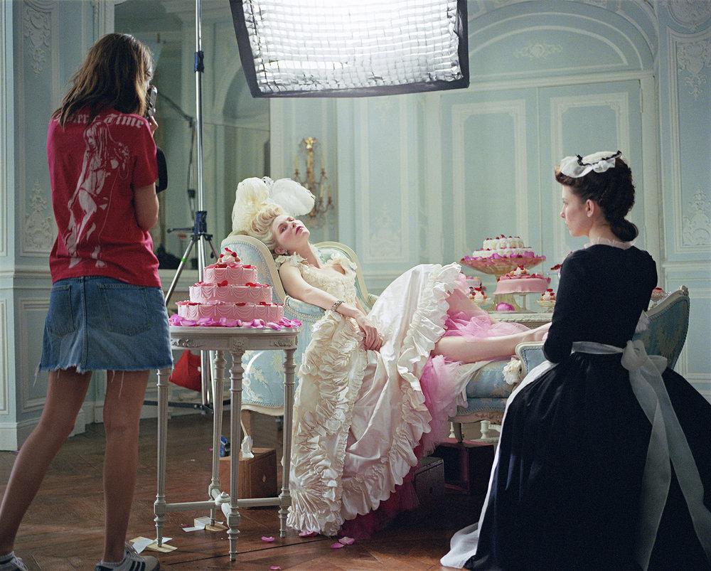 """Sofia Coppola and Kirsten Dunst, """"Marie Antoinette"""", Château de Pontchartrain, France, 2005"""