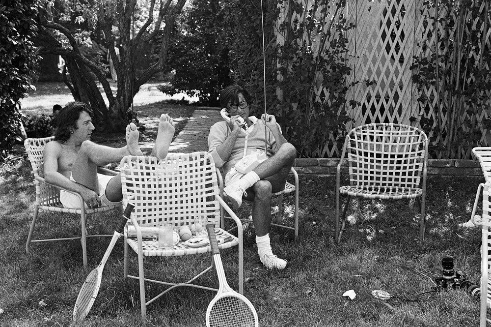 Dustin Hoffman and Robert Evans, Beverly Hills, CA, 1977