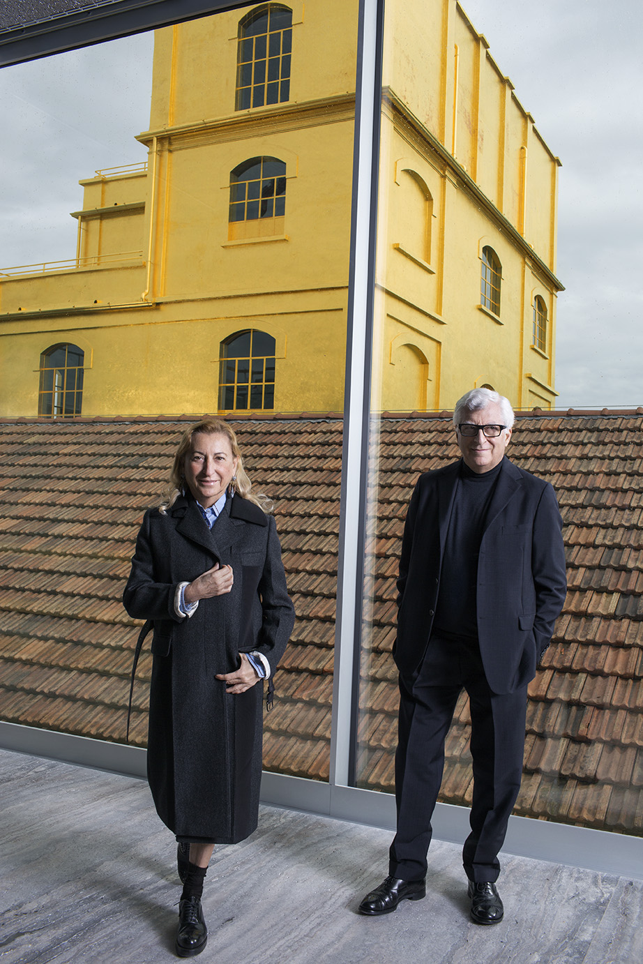 Miuccia Prada and Patrizio Bertelli, Fondazione Prada Milano, for Financial Times Magazine