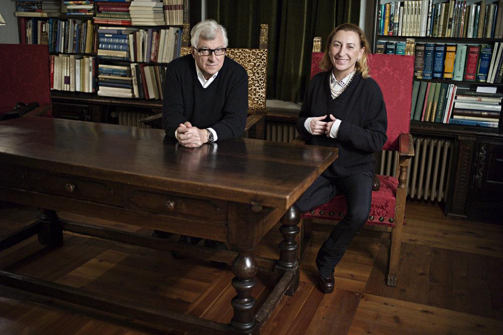 Patrizio Bertelli and Miuccia Prada, Italy