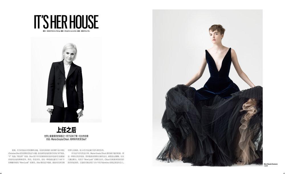 T Magazine China, Dior Couture