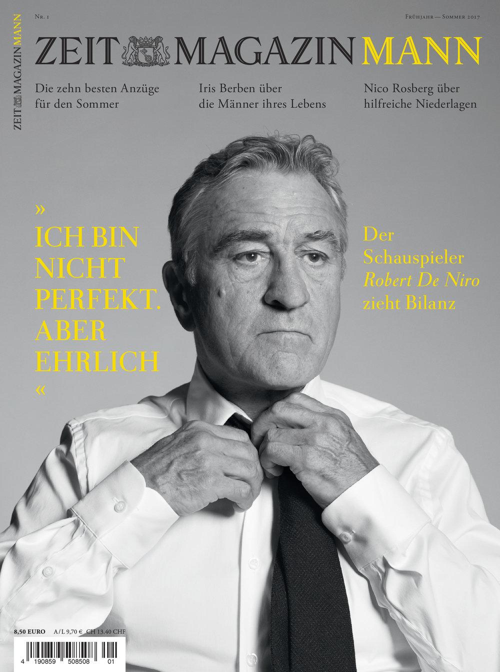 Robert DeNiro, ZEIT Magazin MANN cover, March 2017