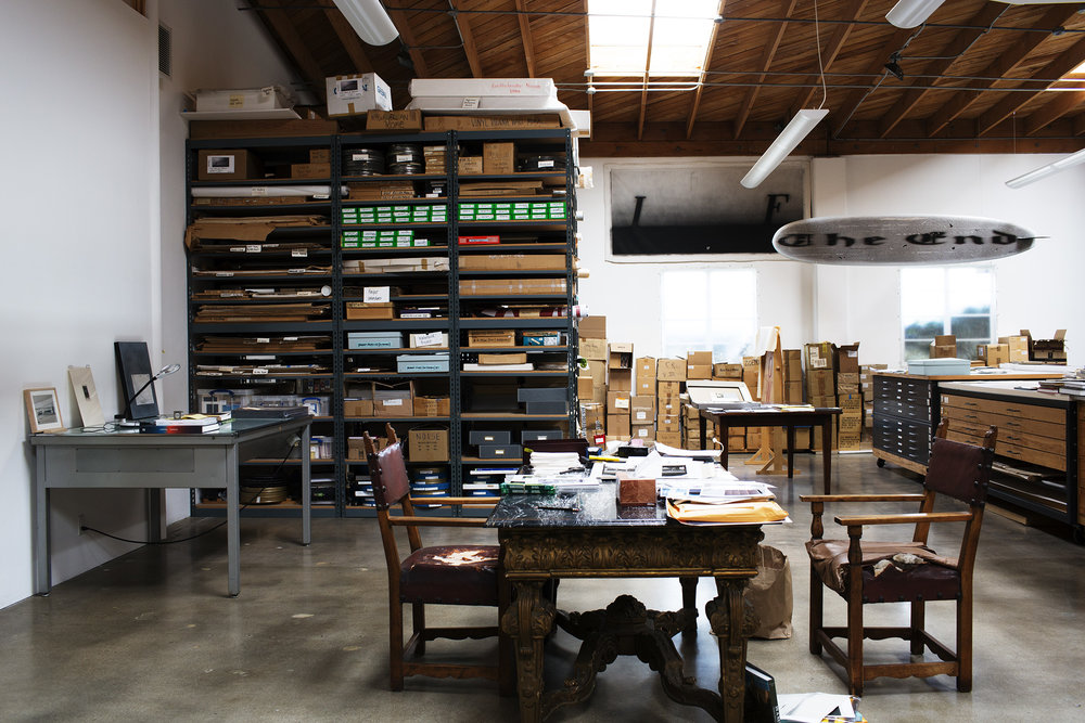 Ed Ruscha studio, Los Angeles