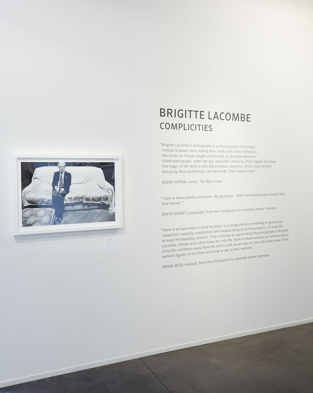 """Brigitte Lacombe Complicities"" at Phillips NYC, 2015"