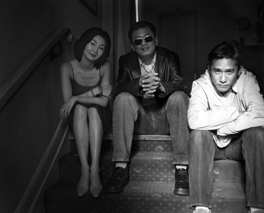 "Maggie Cheung, Wong Kar-wai, and Tony Leung Chiu-wai, ""In the Mood for Love"", Cannes, France, 2000"