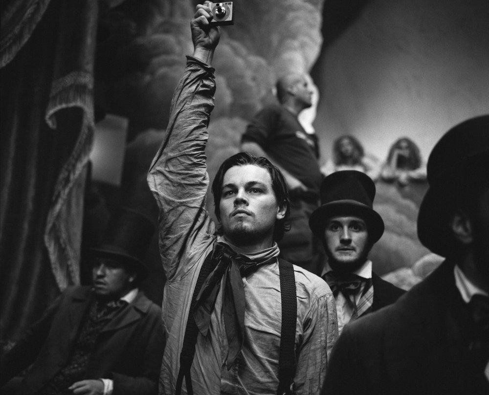 """Leonardo DiCaprio, """"Gangs of New York"""", Cinecittà Studios, Rome, Italy, 2000"""