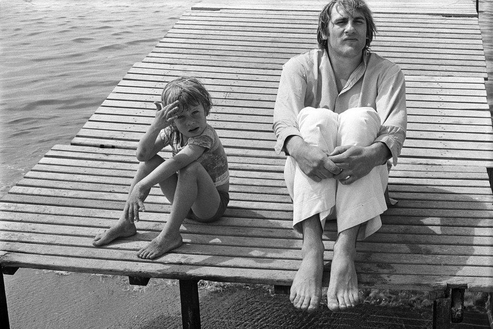 Guillaume & Gerard Depardieu, Cannes, France, 1975