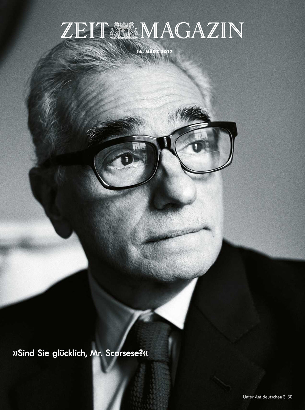 Martin Scorsese, ZEIT Magazin cover, March 2017