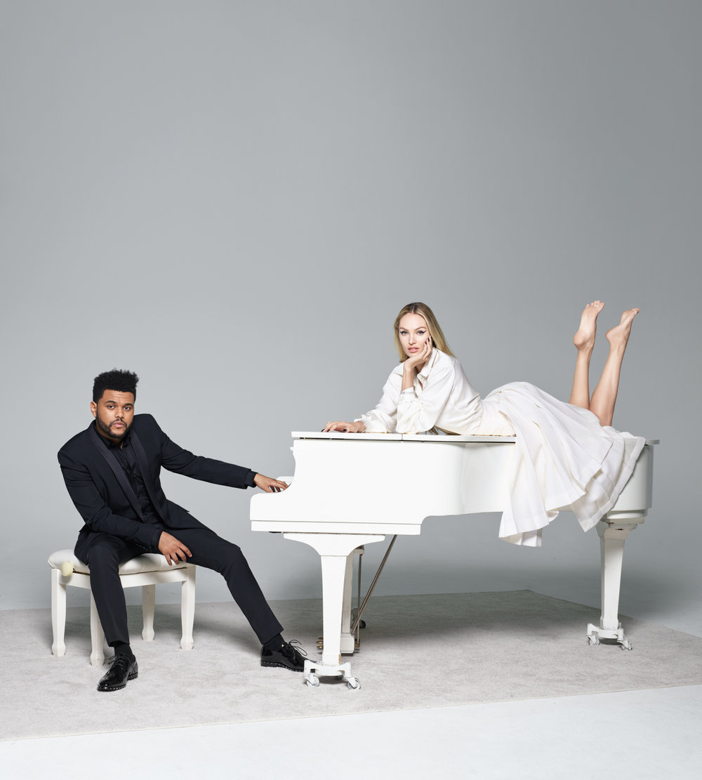 The Weeknd and Candice Swanepoel, 2017 Harper's Bazaar September Issue