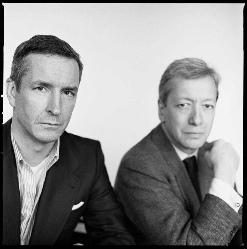 Frédéric Malle with designer Dries Van Noten, Antwerp