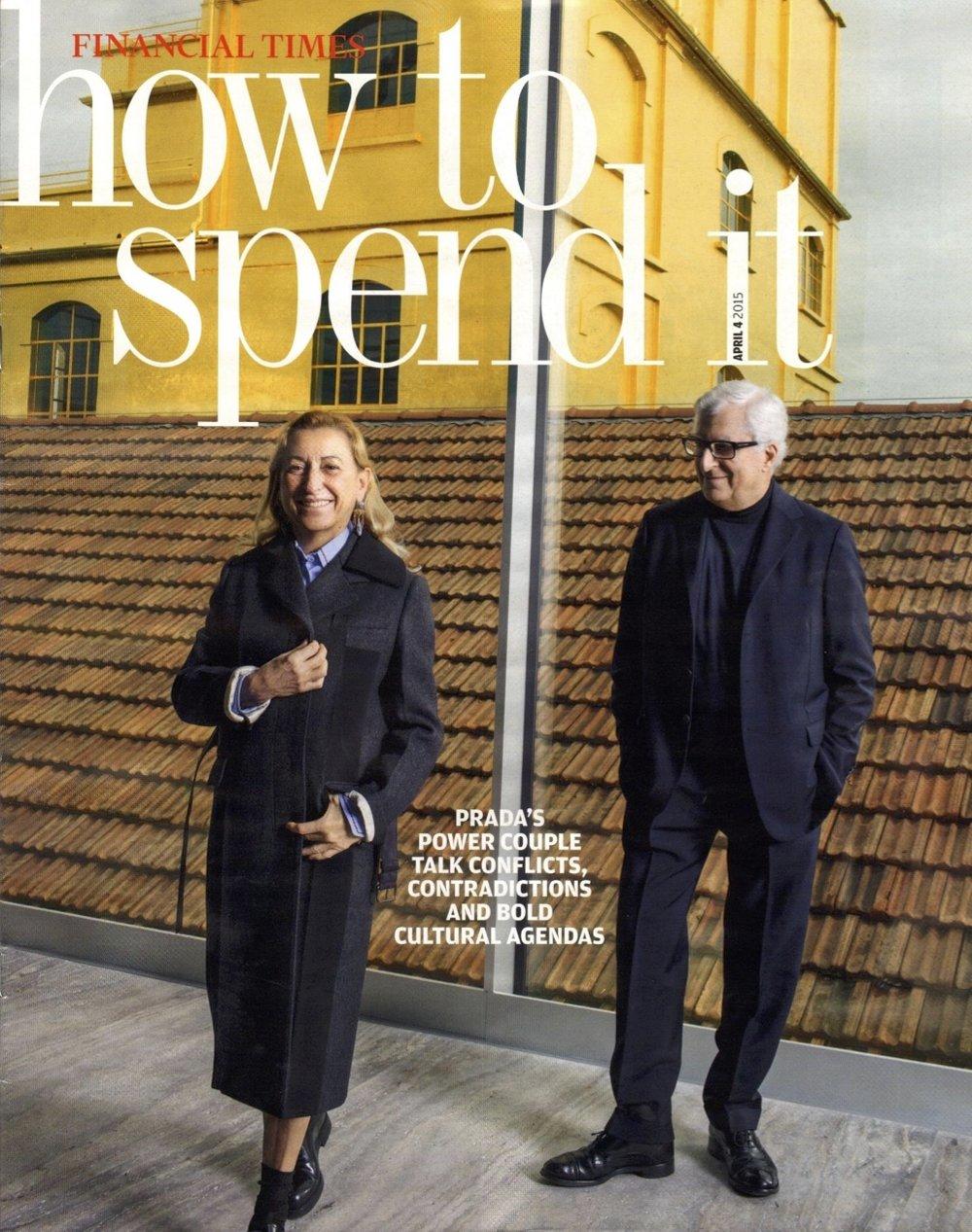 Miuccia Prada and Patrizio Bertelli, Fondazione Prada Milano, Financial Times Magazine