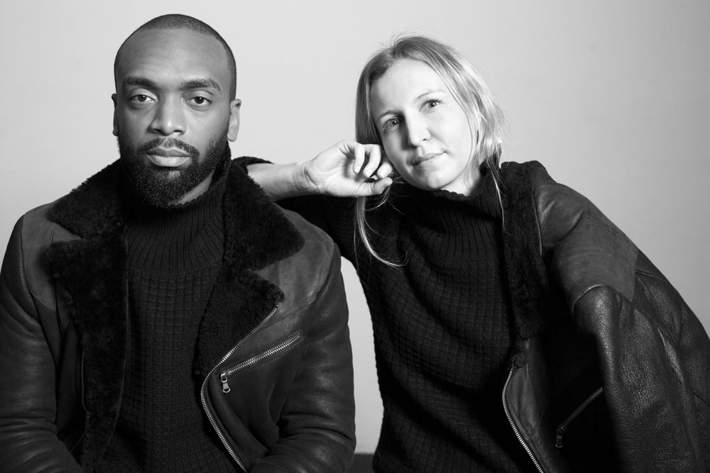 Kerby Jean-Raymond, artist, and Michelle Millar Fisher, MoMA curator