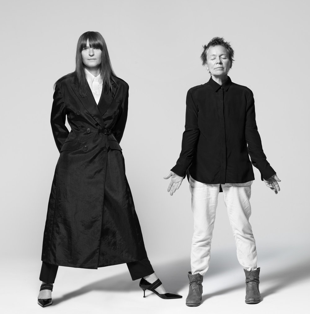 Goshka Macuga and Laurie Anderson